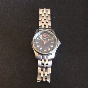 Swiss army stainless steel men's watch